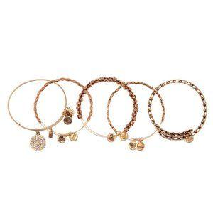 NWT Alex & Ani Snowflake Bangle Bracelet Set